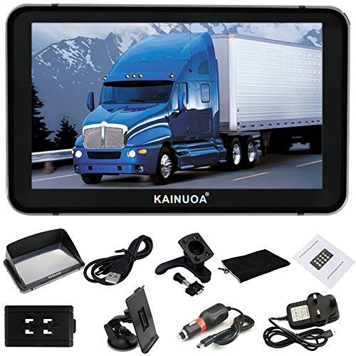 Kainuoa® 7 Zoll 8GB LKW Truck Europe Traffic GPS Navi Navigationsgerät Navigationssystem Lebenslages Kostenloses Kartenupdate Fahrspurassistent Sprachführung POI Blitzerwarnungen für ganz Europa