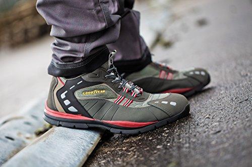 Goodyear G1383010C - Calzado de seguridad, línea deportiva (talla 43) color gris