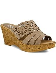 Spring Step Womens Dora Wedge Slide Sandal