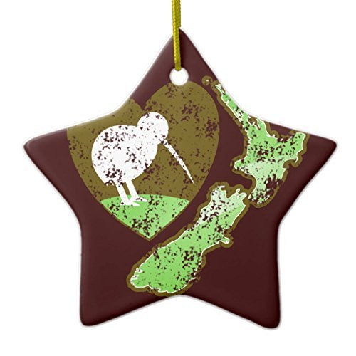 Valentine Herty Unique Designed Christmas Hanging Ornament Kiwi Bird New Zealand with a Love ()