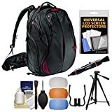 Manfrotto Pro Light Bumblebee-230 DSLR Camera Backpack with Flash Filters + 58'' Photo/Video Tripod + Kit