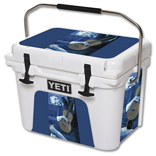 MightySkins Skin For YETI 20 qt Cooler - Old Guitarist | Protective, Durable, and Unique Vinyl Decal wrap cover | Easy To Apply, Remove, and Change Styles | Made in the USA by MightySkins