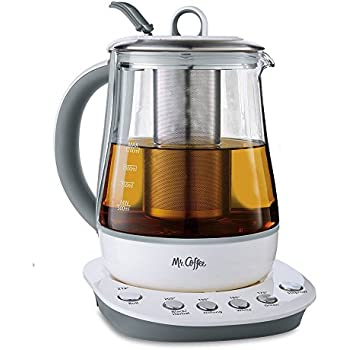 Mr. Coffee Hot Tea Maker and Kettle, White
