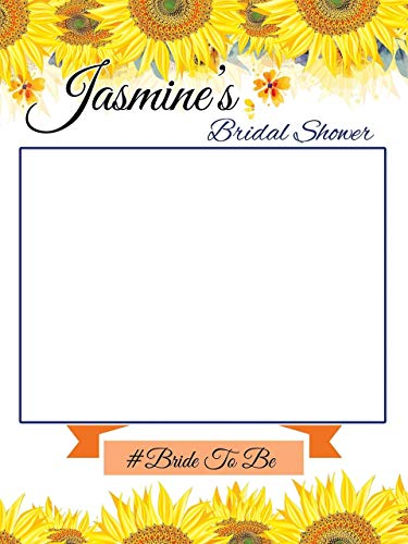 (Custom Sunflower Bridal Shower Photo Booth Frame - Sizes 36x24, 48x36; Sunflower theme wedding, Bridal Shower Photo booth frame, Selfie Frame, Handmade Party Supply Photo Booth Props; Party Decor)
