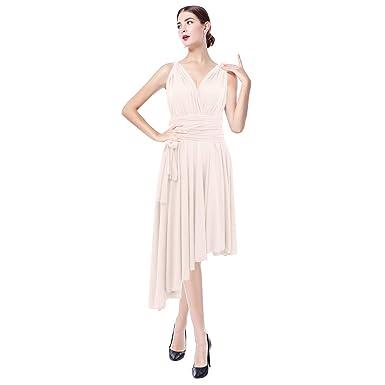 84cbdae1ecb4 Femme Robe Longue de Cérémonie Chic Robe Ado Multi-style Sexy Taille Haute  sans Manche