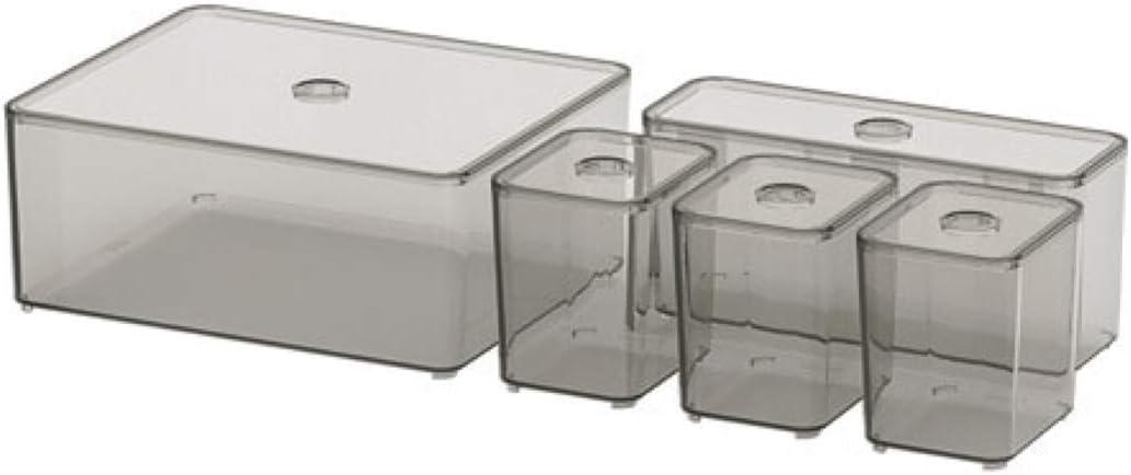 Ikea Godmorgon - Caja con Tapa (5 Unidades, 504.002.70): Amazon.es: Hogar