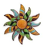 Indoor Outdoor Talavera Painted Metal Flower Wall Art 26.5 dia. x 3.5 D