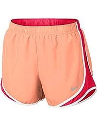 Womens Nike Dry Tempo Running Short (Sunset Glow/Racer Pink, Medium)