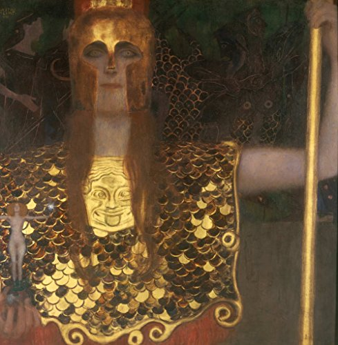 kunst für alle Art Print/Poster: Gustav Klimt Minerva or Pallas Athena Picture, Fine Art Poster, 21.7x21.7 inch / 55x55 cm (Athena Picture)