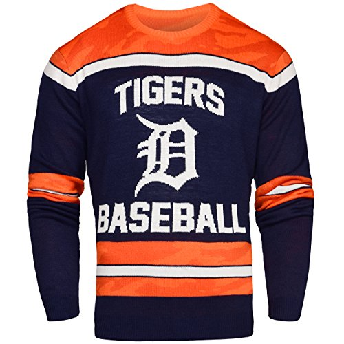 - Detroit Tigers Ugly Glow In The Dark Sweater - Mens - Mens Small