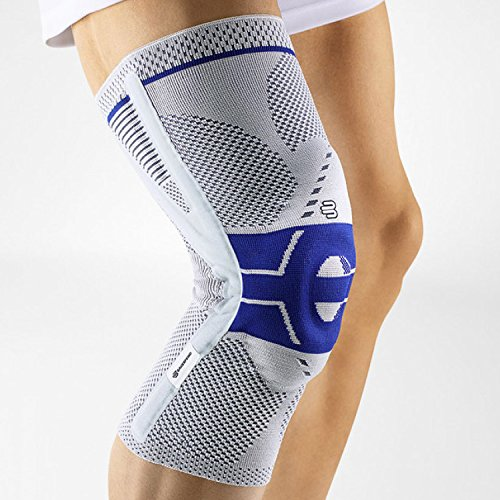 Bauerfeind GenuTrain P3 Knee Support (Titanium, Left 3) by Bauerfeind