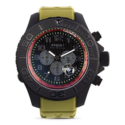 KYBOE! ST.48-003.15 OLIVE DRAB STEALTH CHRONO Mens LED Watch