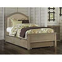 Rosebery Kids Twin Upholstered Bed with Trundle in Driftwood