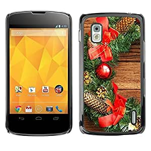 YOYO Slim PC / Aluminium Case Cover Armor Shell Portection //Christmas Holiday Wood Decorations 1301 //LG Google Nexus 4 by icecream design