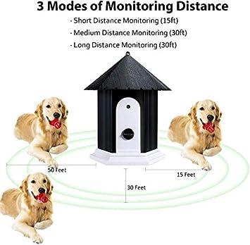 Bark Control Device Dog Bark Contrl Outdoor Birdhouse Sonic Bark Deterrents CYWEB Anti Barking Device BLACK Ultrasonic Anti Barking