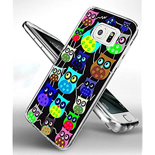 S7 Edge Case Owl,Samsung Galaxy S7 Edge TPU Soft Clear Full Protective Case - Design of Funny Lovely Owls for Sales