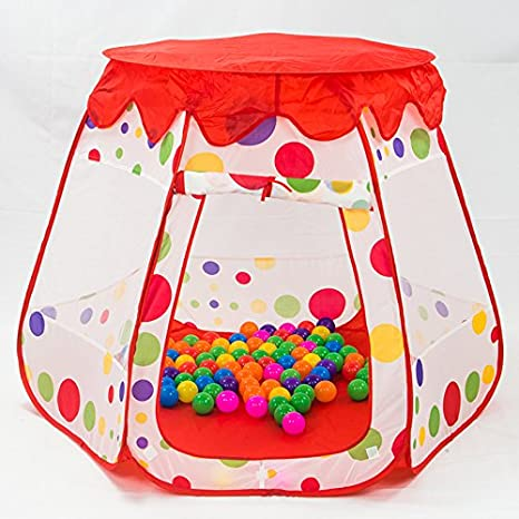Toyshine Kid's Foldable Castle Ball Pit Indoor Outdoor