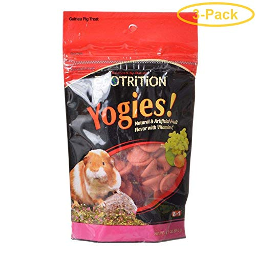 (3-Pack) 8 In 1 Yogies Fruit Flavor Guinea Pig Treats - 3.5-Ounce each