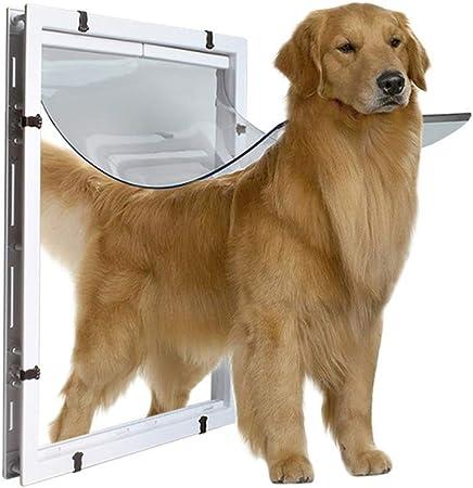 MELAG Puerta magnética para Mascotas Big Dog Door Extra Large Pet Hole Hole Golden Hair Collie
