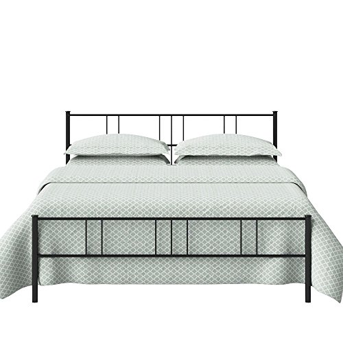 The Original Bedstead Company Mortlake Double Size Metal Bed  Glossy Finish, Black