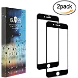 [2 Pack] iPhone 8 Screen Protector,Tempered Glass,Crystal Clear, [Full Coverage] Colored Edge,3D Full Curved Edge,No Bubble,Tempered Glass Protector for iPhone 8 (black)