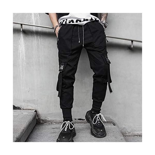Tasty Life Pantalon De Jogging Sarouel pour Homme Modèles D'explosion De Printemps Pantalon Hip Hop Noir Pantalon De…