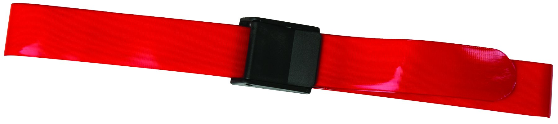 Secure SPGB-60R Quick Clean Antimicrobial Transfer Gait Belt, Red, 60'' x 2'' - Patient Safety Aid for Caregiver, Nurse, Therapist, etc.