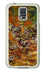 Samsung Galaxy S5 fashion covers Abstract Paint PC White Custom Samsung Galaxy S5 Case Cover