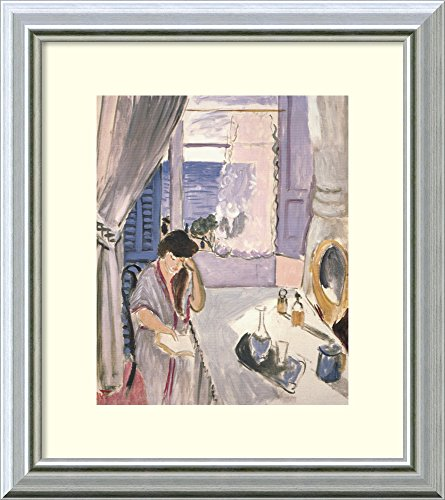 Framed Wall Art Print | Home Wall Decor Art Prints | Woman Reading at a Dressing Table by Henri Matisse | Modern Decor