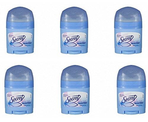 Secret Invisible Solid Antiperspirant and Deodorant, Powder Fresh, 0.5 Ounce Travel Size (Pack of 6) by Secret