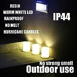 Set of 3 Outdoor IP44 Warm White LED Rainproof
