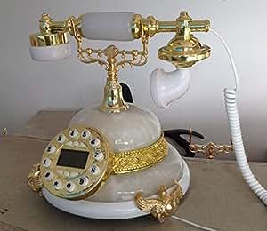 Llamadas de teléfono antiguo clásico estilo europeo resina jade , White