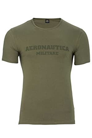 Aeronautica Militare T Shirt Luca Color Army Green Size S