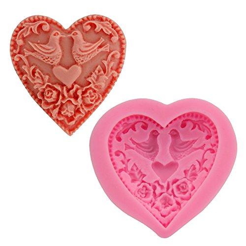[Let'S Diy Silicone Two Birds Love Heart Mold DIY Fondant Cake Decorating Tools] (Princess Halloween Costumes Diy)