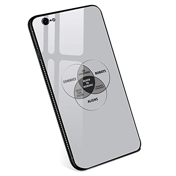 iphone 6 plus cases,zombies, robots, and aliens venn diagram tempered glass  iphone