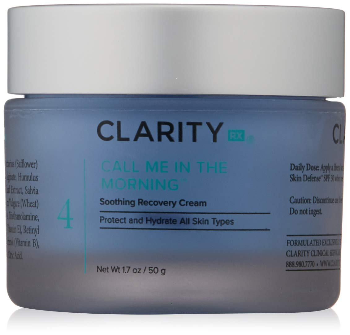 ClarityRx Call Me In the Morning Soothing Recovery Cream - Moisturizing Daytime Cream for Under Makeup with Comfortable Hydration for Face