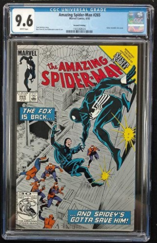 Amazing Spider-man (1963) #265 CGC 9.6 Silver Metallic Ink Cover (156368024)