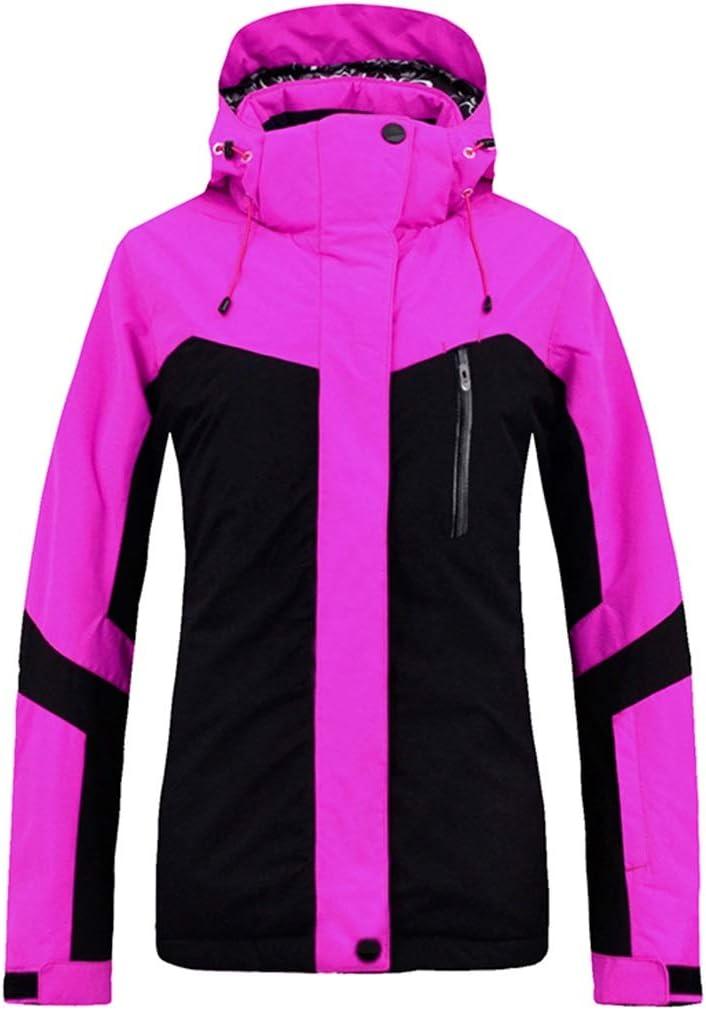 MEIDELE 雨雪アウトドアハイキング冬のコートのための防水スキージャケットの冬のコートレディース (色 : 紫の, サイズ : L) 紫の Large