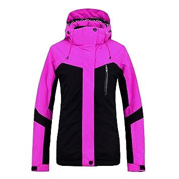 Klerokoh Abrigo Impermeable de la Chaqueta del esquí del Traje de esquí del Invierno de Las