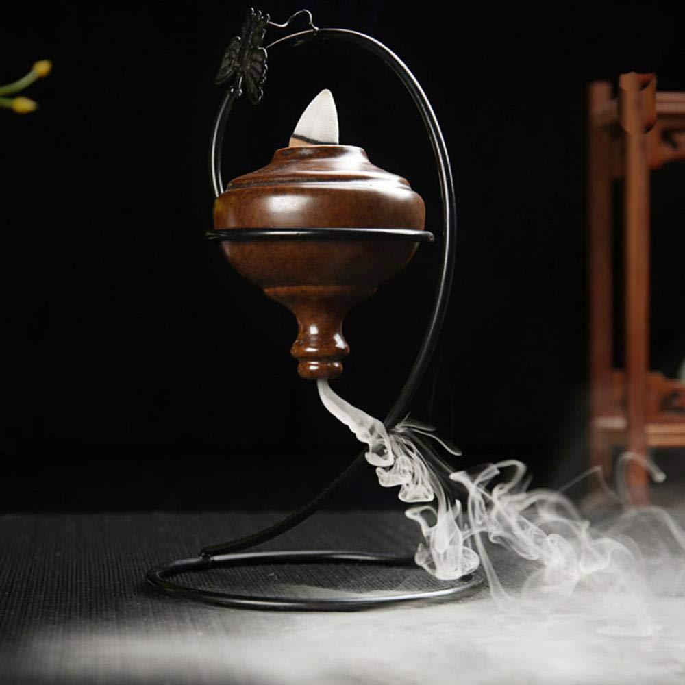 Bruciatore di incenso, defluire porta incenso in ceramica incenso bruciatore incenso Portaincenso defluire con 10coni senza decorazione domestica artigianato Gift peg-top LIRENSHIGE