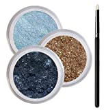 Blue Eyes Smokey Mineral Eyeshadow Kit - 100% Pure All Natural Mineral Makeup - Not Bare Minerals, Bare Escentuals, Mineral Fusion, MAC