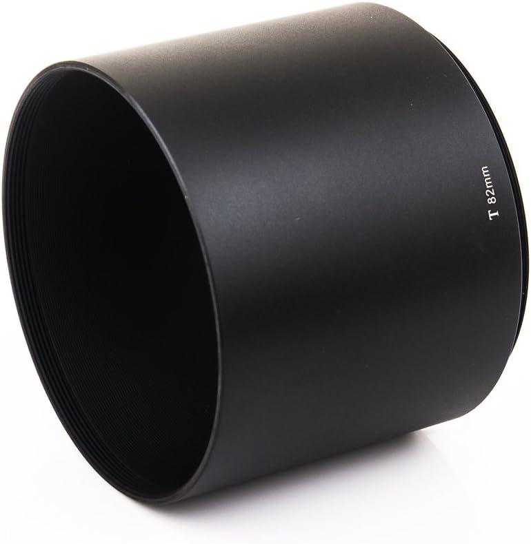 Telephoto Lens Thread Bokkeh Metal Matt Black Lens Hood for 82mm Diameter