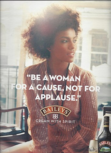 MAGAZINE AD For 2013 Baileys Irish Cream Alcohol Be A Woman For A Cause