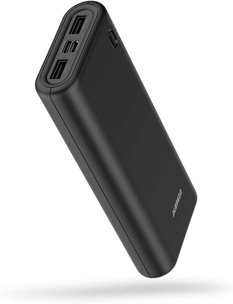 20000mah External Battery Power Bank, 20000 15W Max Portable Phone Charger Battery Pack for Cell Phone with 3 Output USB Type-C Compatible with iPhone 6, 7, 8, Xs Max,XS,XR,iPad and Other Smart Device
