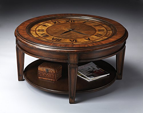 Butler Specialty 6047070 Clock Cocktail Coffee Table, Heritage ()