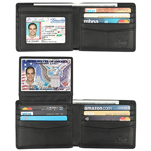Wallet for Men-Genuine Leather RFID Blocking Bifold Stylish Wallet With 2 ID Window (Vintage Black) Black Friday Deals 2019