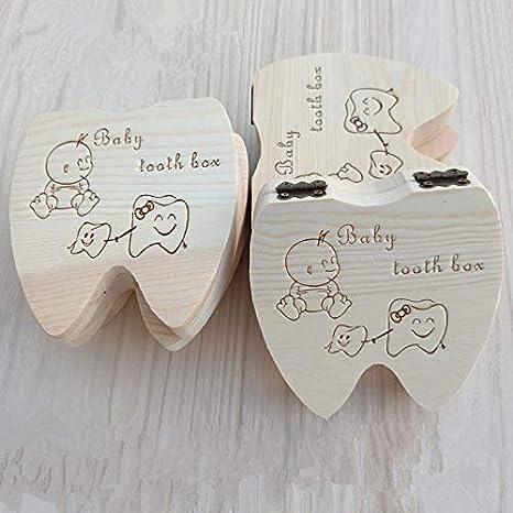 Snaro 1X Caja Almacenamiento Madera Almacenaje para Dientes De Leche Regalo de Amor para Peque/ño Beb/é Versi/ón Espa/ñol Ni/ña
