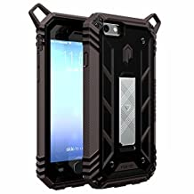iPhone 6S Case, POETIC Revolution [Premium Rugged] Protective Case for Apple iPhone 6S with [Landscape Stand Feature] Inner Liner with [Easy Front Open Feature] Black/Dark Gray