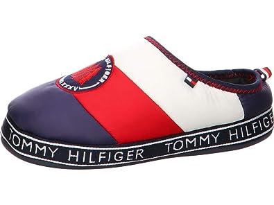 elegantes Aussehen große Auswahl an Farben attraktiv und langlebig Tommy Hilfiger Damen Hausschuhe Downslipper 1D FW0FW04182-020 blau 577072