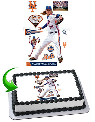 Noah Syndergaard New York Mets Edible Image Cake Topper Icing Sugar Paper A4 Sheet Edible Frosting Photo Cake 1/4 ~ Best Edible Image for cake